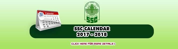 SSC Calender 2018